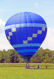 People exiting hot air balloon after ride Berkshires MA Stock Photography