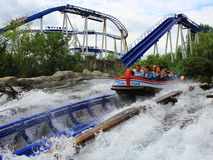 People experience water ride summer fun