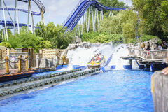 People experience water ride summer fun Royalty Free Stock Photography