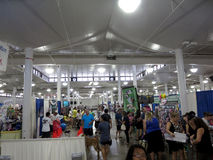 People explore booths dog expo Royalty Free Stock Image