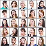 People expressing different emotions Stock Image