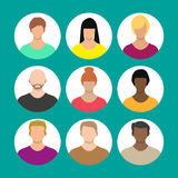 People face, avatar icon, cartoon character Royalty Free Stock Photos