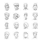 People Face Character Cartoon Illustration stock de ilustración