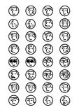 People face icon set Stock Images