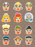People face stickers Royalty Free Stock Images