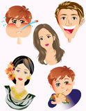 People faces Royalty Free Stock Photo