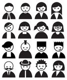 People Faces. Vector set of faces icon Stock Photography
