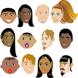 People Faces 4 Stock Images