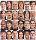 People faces collection Royalty Free Stock Images