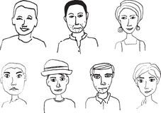 People Faces Stock Image