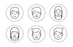 People faces icon. Over white background vector illustration Royalty Free Stock Photo