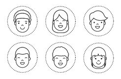 People faces icon. Over white background vector illustration Stock Images