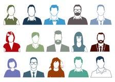 People faces portrait Stock Photos
