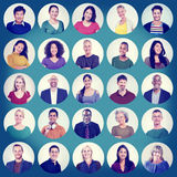 People Faces Portrait Multiethnic Cheerful Group Concept Royalty Free Stock Photography