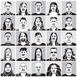 People faces set, characters. People faces set, people characters Royalty Free Stock Photo