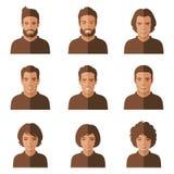 People faces. woman, man Stock Photos