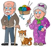 People and family collection. Vector illustration Stock Photos
