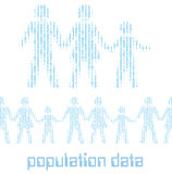 People family digital statistics population data. Family people as digital 1 0 data population statistics to tile horizontally vector illustration