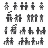 People and family icon. Web icon illustration design vector Royalty Free Stock Image
