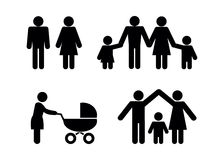 People family icons. Royalty Free Stock Photography