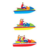 People, family on a jet ski. Water sports. Royalty Free Stock Photos