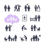 People Family Pictogram set Stock Photos