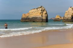 Praia da Rocha royalty free stock photography