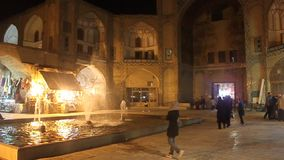 People at famous Imam or Naqsh-e Jahan square Stock Photography