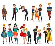 People In Fashion Industry Set Royalty Free Stock Photo