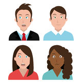 People feelings and emotions. Royalty Free Stock Images