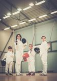 People on a fencing training Royalty Free Stock Photography