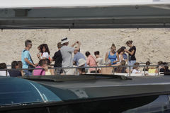 People on the ferry boat Stock Images