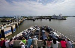 People on ferryboat Stock Image