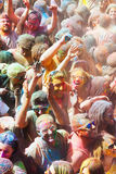 People at Festival of colours Holi Barcelona Royalty Free Stock Image