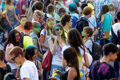 People during Festival of colours Holi Stock Photography