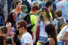People during Festival of colours Holi Stock Photos