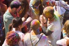 People at  Festival de los colores Holi Royalty Free Stock Photos