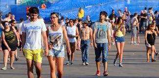 People at FIB (Festival Internacional de Benicassim) 2013 Festival Stock Images