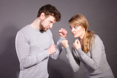 People in fight. Young couple arguing. Royalty Free Stock Photo
