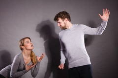 People in fight. Young couple arguing. Royalty Free Stock Photos