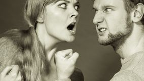 People in fight. Young couple arguing royalty free stock photos