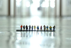 People figure. In scale 1/150 Stock Image