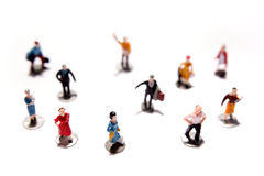 People figurines. On white background Stock Photo
