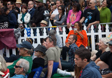 People at Fillmore Jazz Festival in San Francisco Royalty Free Stock Photos