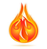 People on fire logo Stock Image