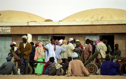 People on the fish market, Nouakchott, Mauritania Stock Photography