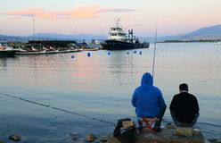 People fishing in Izmir Royalty Free Stock Photography