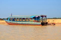 People fishing on Tonle Sap Lake Stock Photo