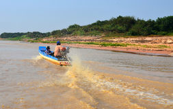 People fishing on Tonle Sap Lake Stock Photography
