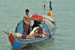People fishing on Tonle Sap Lake Royalty Free Stock Photo